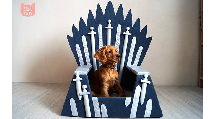 This Etsy Shop Is Selling 'GoT' Iron Throne Dog Beds for Your Beloved Direwolves