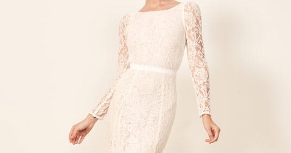 15 Gorgeous Wedding Dresses Under 500 Purewow,Summer Wedding Tea Length Mother Of The Groom Dresses