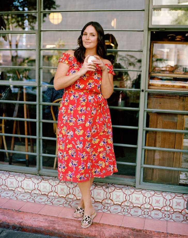 anthropologie plus sizes red dress