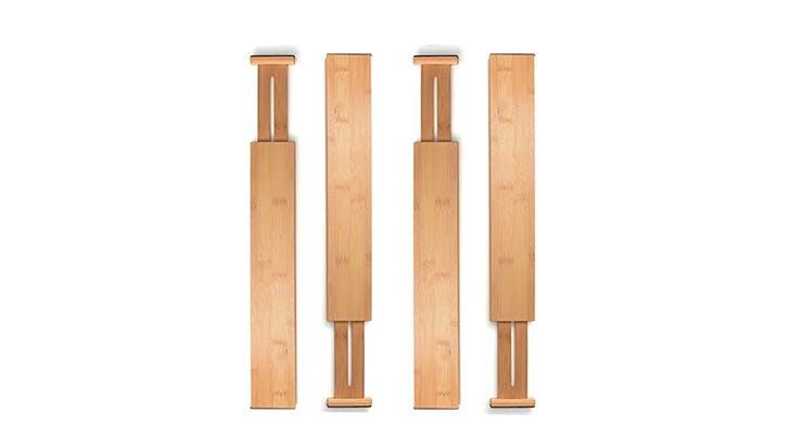 bamboo drawer divider set