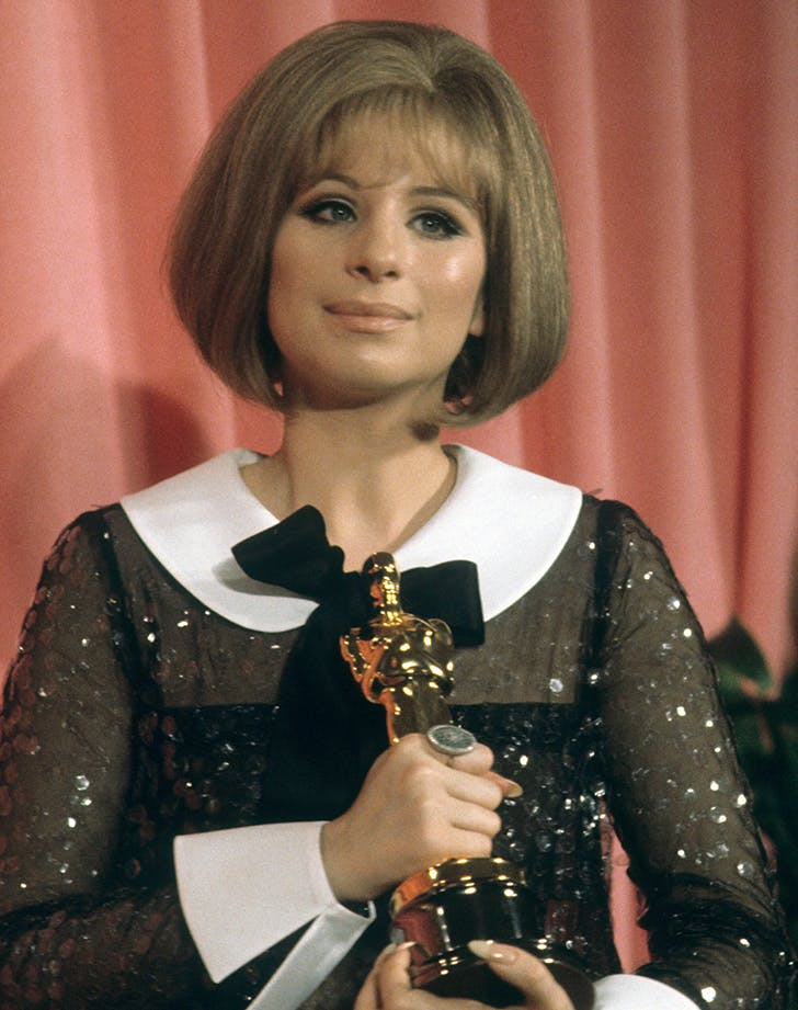 barbra streisand with her oscar
