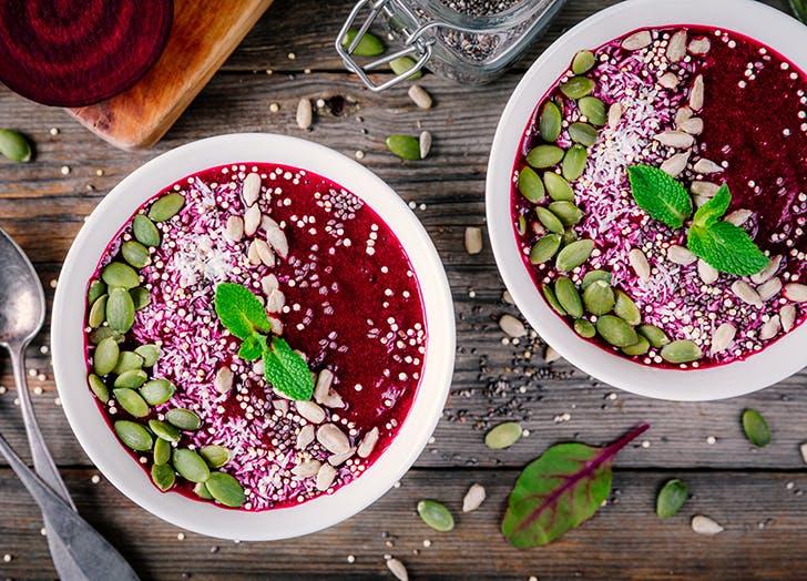 beet smoothie bowl