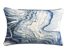 blue marble pillow wide