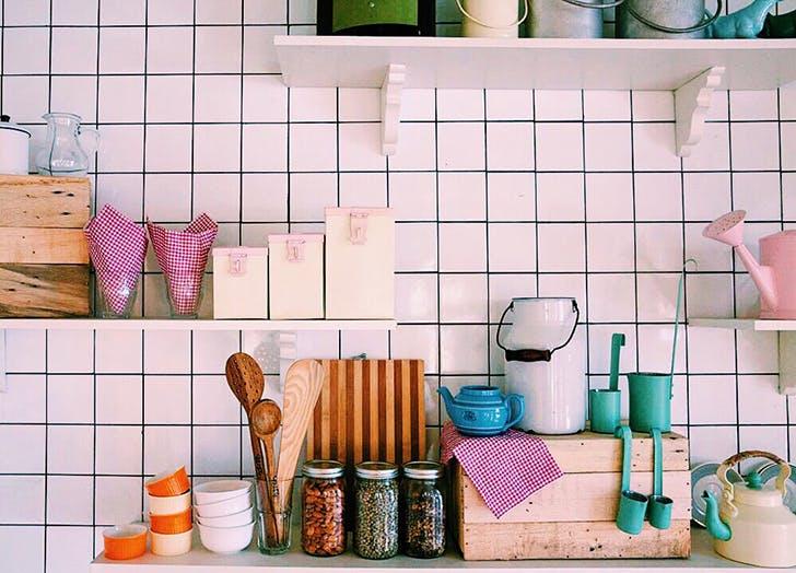 bright organized kitchen