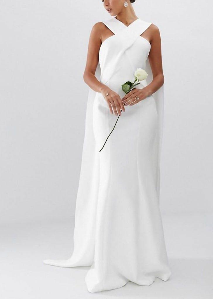 cape gown asos