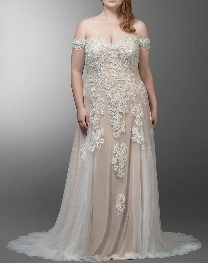 champagne gown for wedding