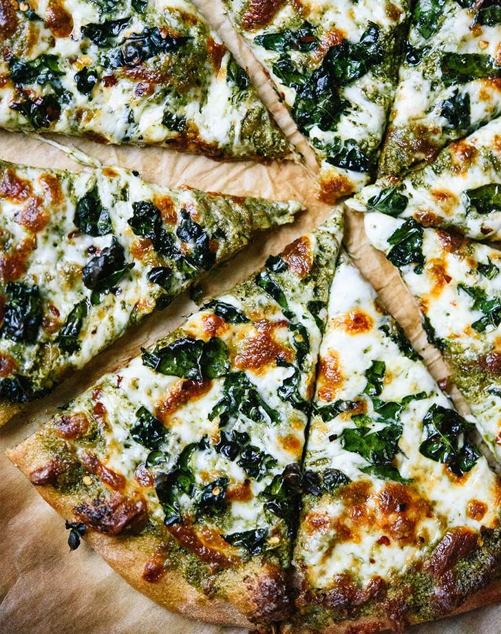 clean eating kale and pesto pizza recipe