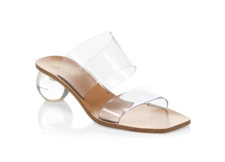 clear strapped sandal