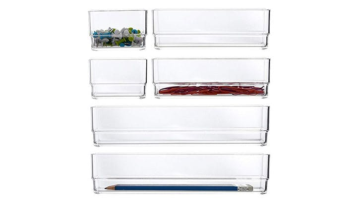 clear drawer organizers
