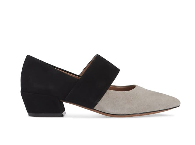 colorblock mary jane shoes