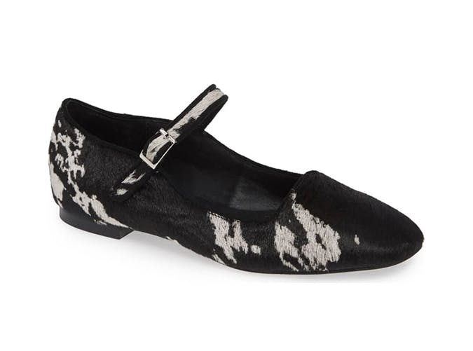 cow print mary jane shoes