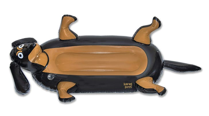 This Dachshund Pool Float Is 7 Feet Long, Comes with a Cup Holder and Supports a Good Cause