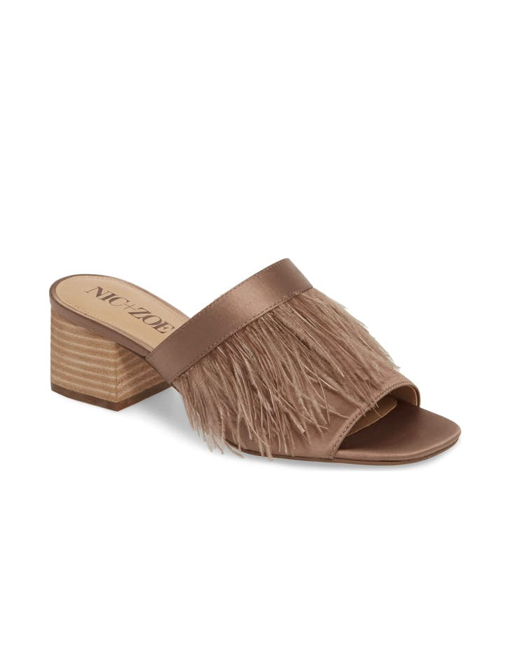 feathered sandal
