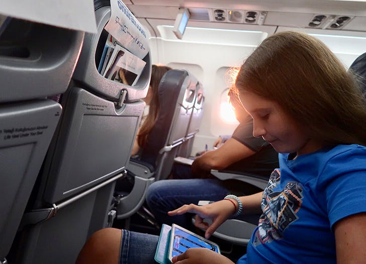 flying with a fifth grader