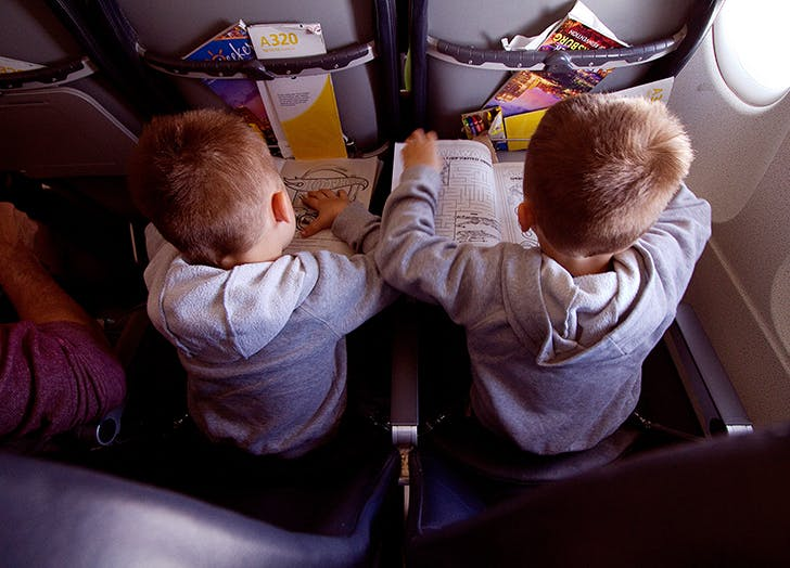 flying with a second grader