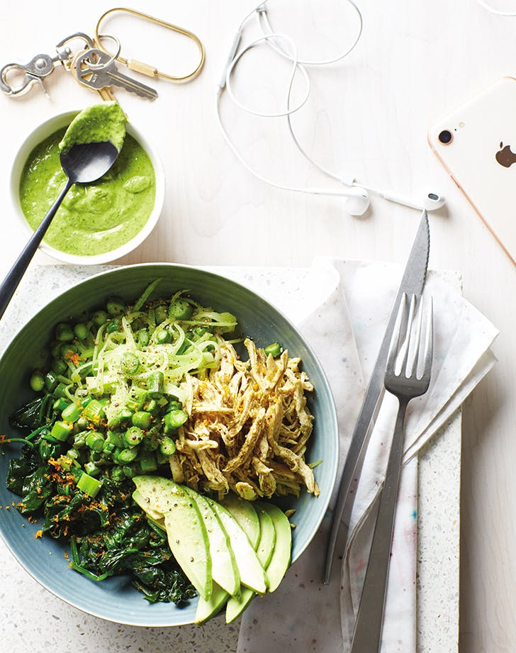 Green Bowl with Chicken, Citrus and Herbs