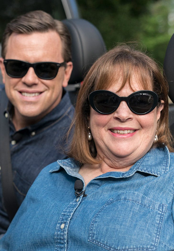 ina garten in sunglasses with willie geist