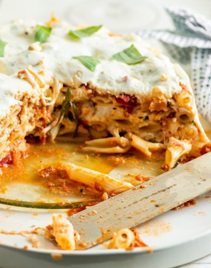 instant pot ziti lasagna bolognese sauce recipe
