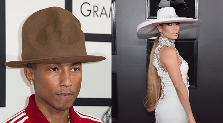 Move Over, Pharrell: J.Lo Now Owns the Red Carpet Hat Game