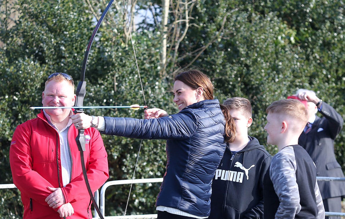 kate middleton archery