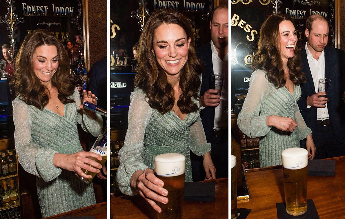 kate middleton pouring beer msn