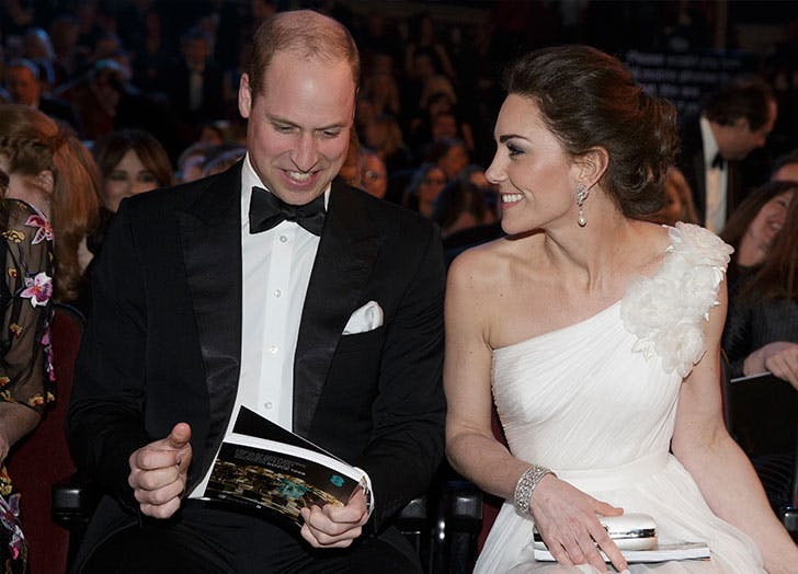 kate middleton prince william bafta sitting