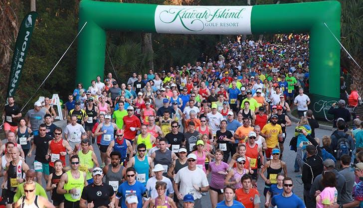 kiawah island marathon runners