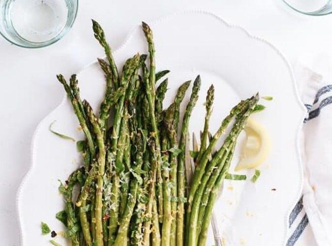 lemony raosted asparagus