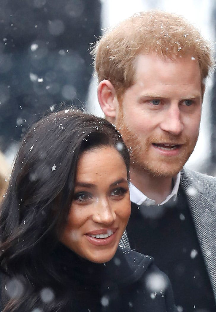 meghan markle prince harry snow