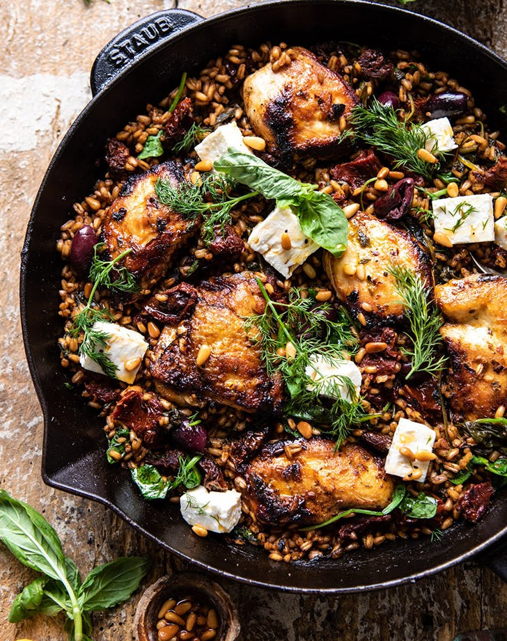 one skillet sun dried tomato chicken