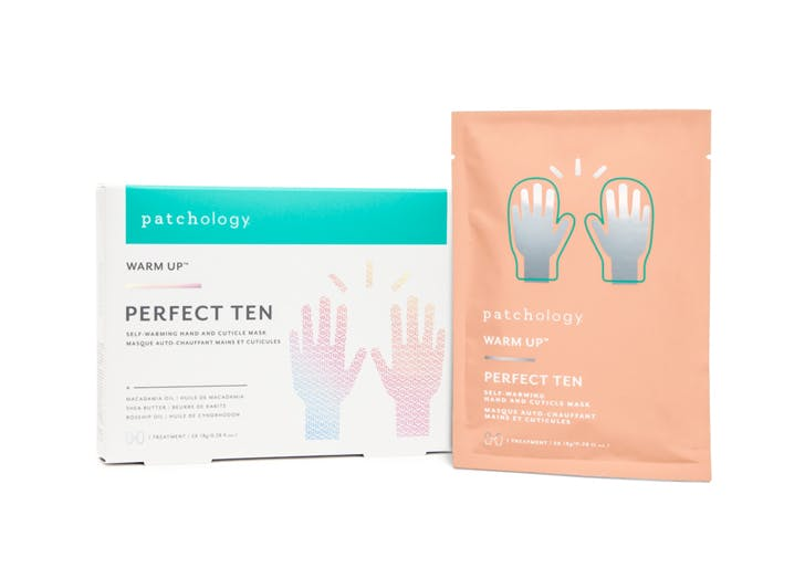 patchology warm up perfect ten self warming hand and cuticle mask