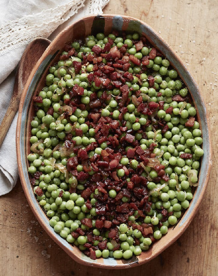 peas and pancetta with lemon recipe