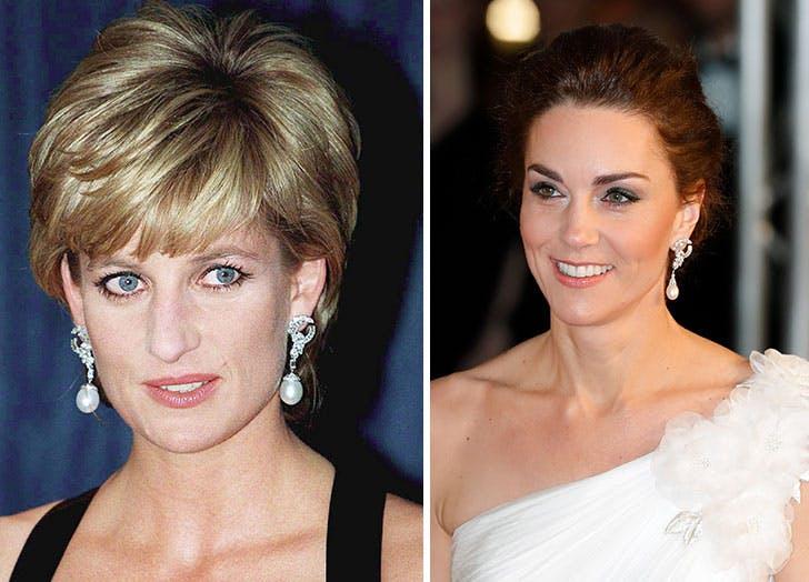 princess diana kate middleton earrings