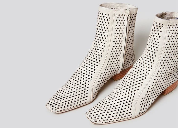 rachel comey perforated white square toe boots
