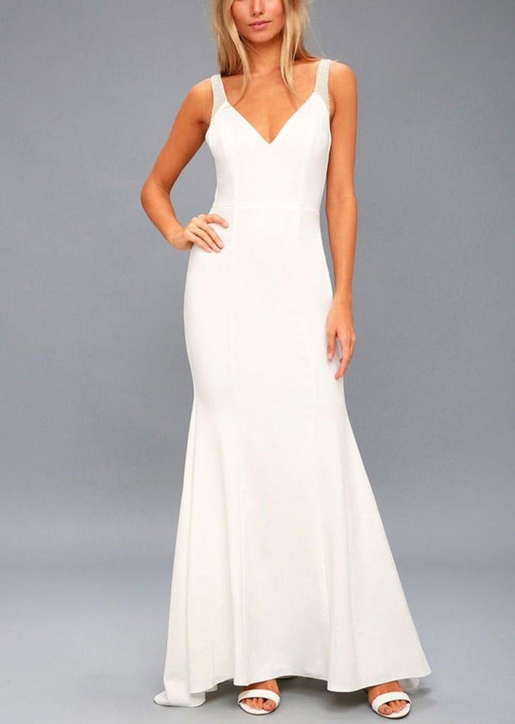 sleek lulus gown