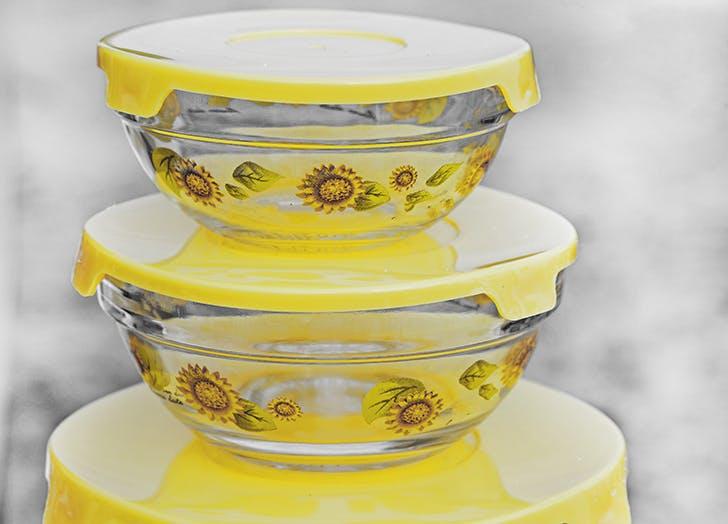 sunflower tupperware