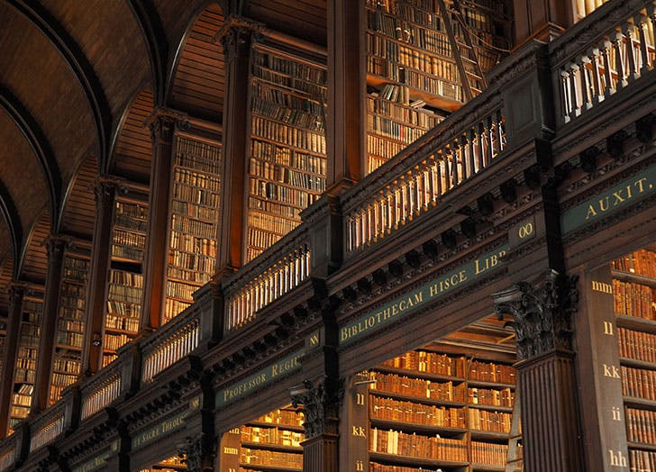 the old library at trinity college ireland