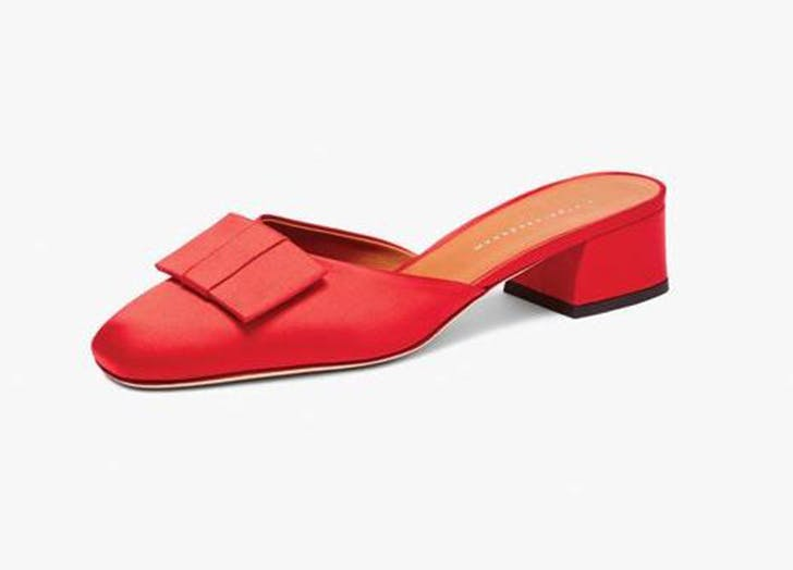 victoria beckham red square toe mules