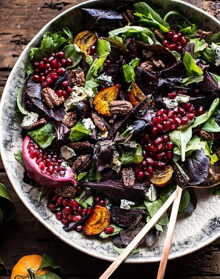 winter beet pomegranate salad recipe