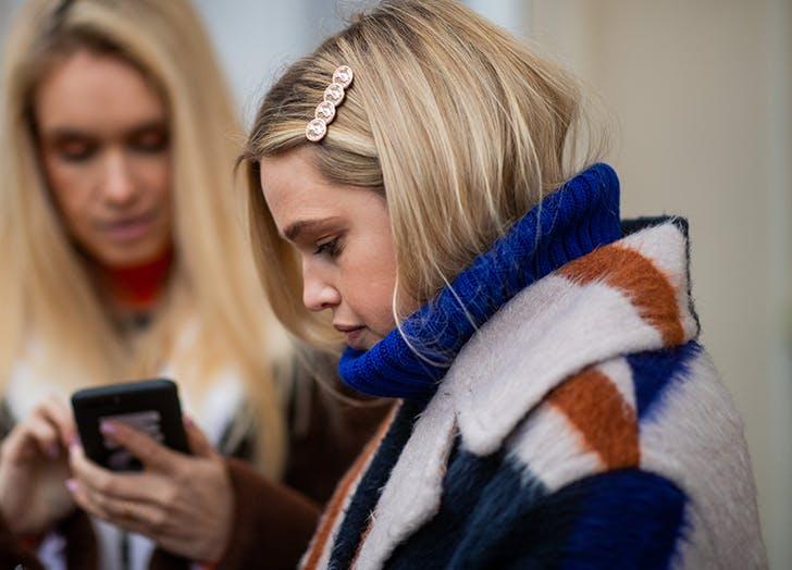 woman wearing fancy hair clips