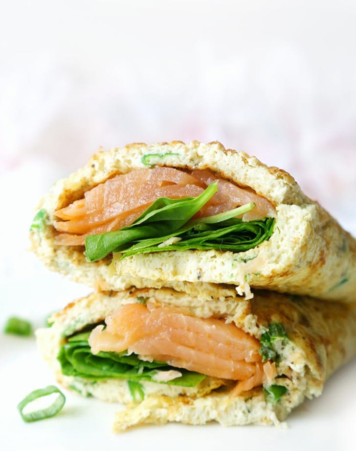 10 Minute Smoked Salmon  Spinach and Egg White