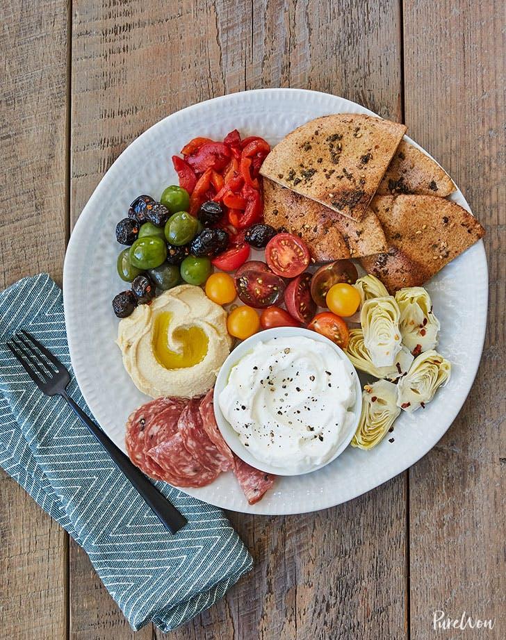 15 minute mezze plate toasted za atar pita bread recipe lunch ideas