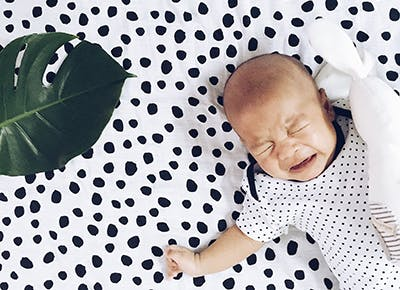 Baby doing Weissbluth cry it out sleep training method 400