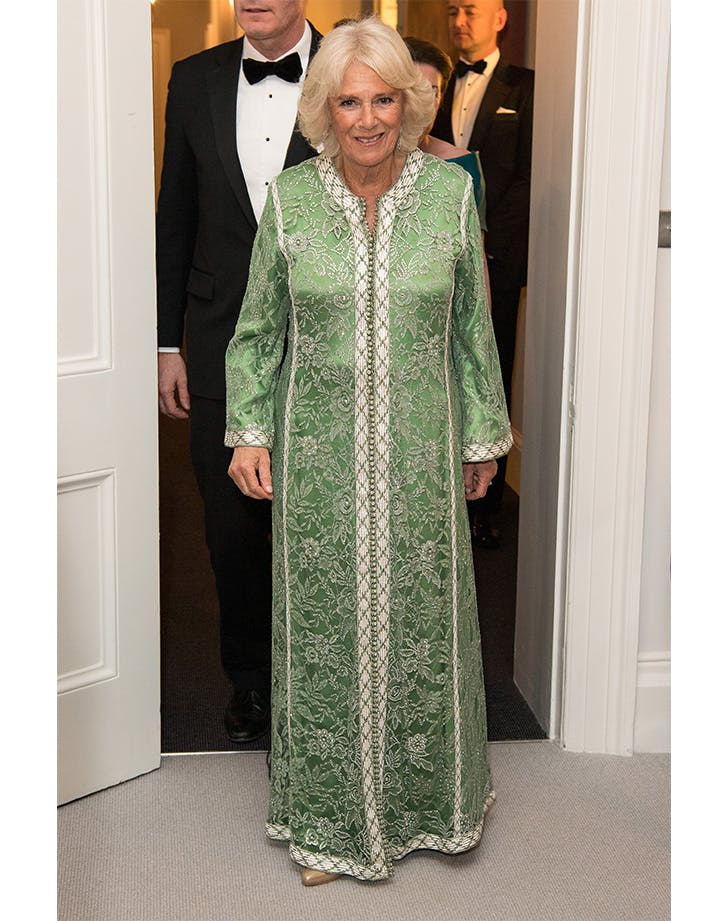 Royal Rewear Alert: Camilla Parker Bowles Celebrates St. Patty's Day Early in Her Favorite Green Caftan