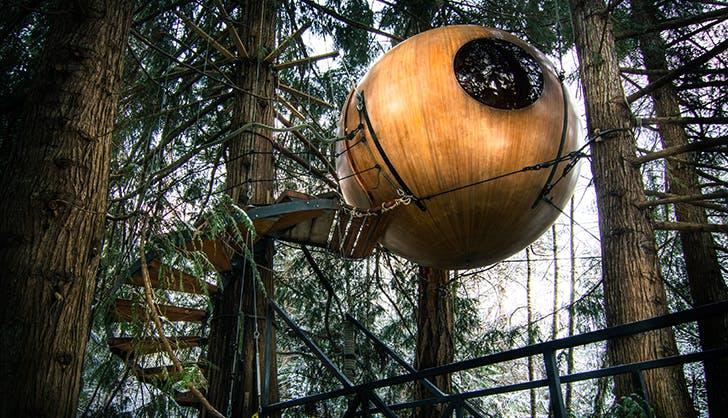 Free Spirit Spheres in Vancouver Island British Columbia