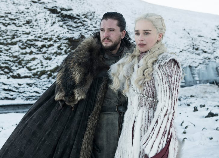 Jon Snow and Daenerys Targaryen season 8 game of thrones