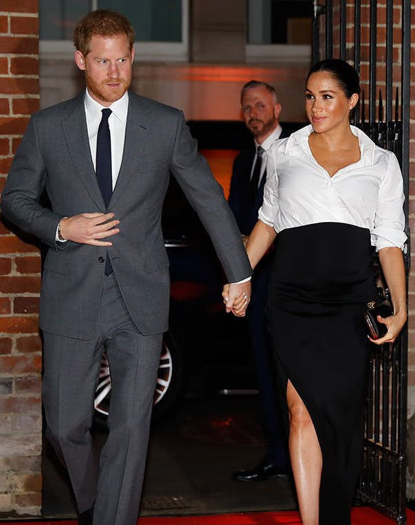 Meghan Markle in thigh high slit with Prince Harry2