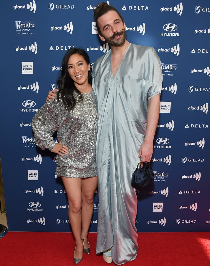Michelle Kwan and Jonathan Van Ness at Glaad Awards.l