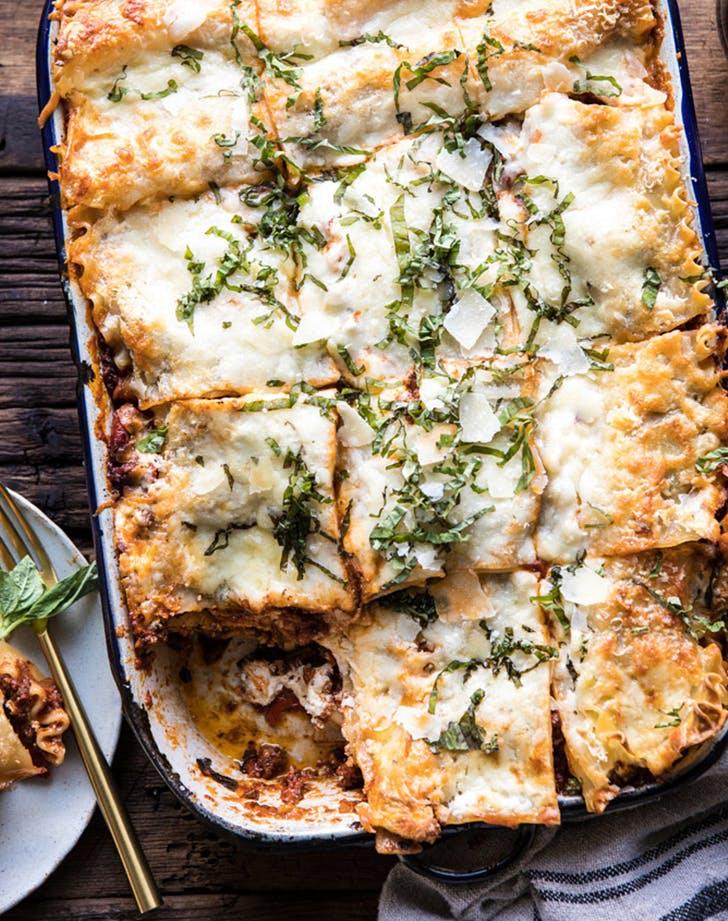 Pesto Bolognese Lasagna