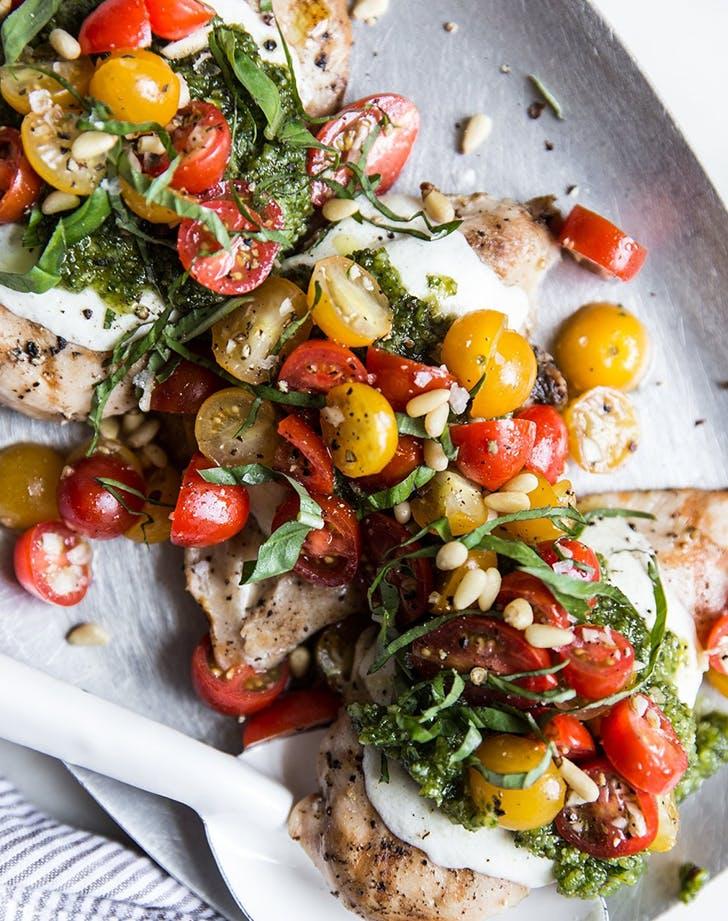 Pesto Chicken Bruschetta